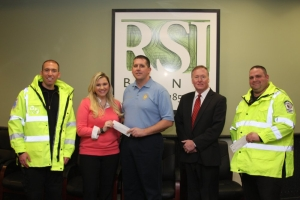 R/L Mike Ratai- Rahway First Aid Squad, Sonya Solenske -RSI Bank, Captain Joseph Simonetti -Rahway Police Department, Donald Godfrey -RSI Bank, Steve Weber -Rahway First Aid Squad.