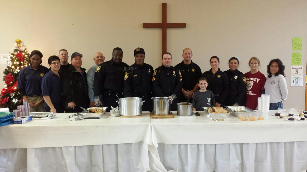 (Right to left) Police Explorer Markeytah Johnson, Police Explorer Phillip Schroeder, Detective William Eicholz, Rahway Police Chief John M. Rodger, Rahway Mayor Samson Steinman, Aux. Officer Denzil Williams, Aux Police Chief Alexander Parker, Aux Corporal Chris Demers, Detective Sgt. Richard Long, Rachael Eicholz, Detective Lieutenant Dawn Rodger, Aux Officer Michelle Gill, Rahway Police Detective Bureau Secretary Barbara Fleischman and Sarah Long.